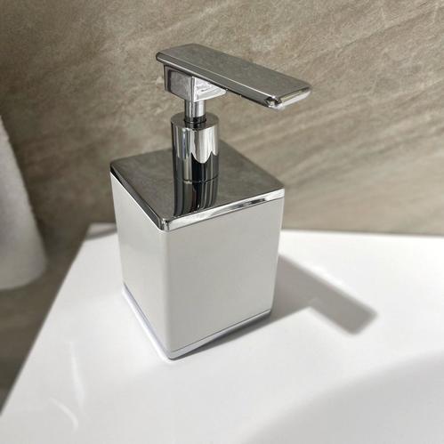 Boheme Q диспансер для жидкого мыла настольный, белый/хром