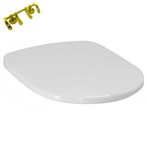 Крышка с сиденьем для унитаза ArtCeram Azuley, механизм soft-close, цвет белый/золото