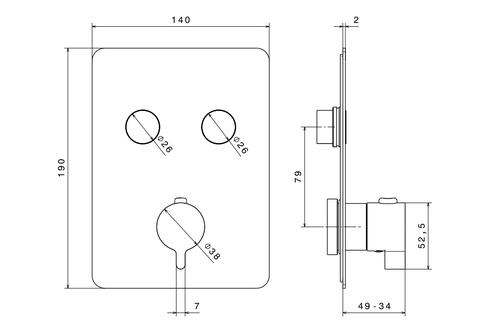 Newform смеситель для душа на 2 режима термостат