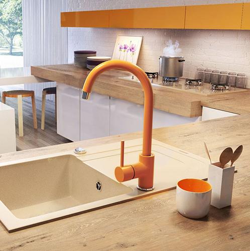 Смеситель для кухни с изливом U Deante Milin, оранжевый