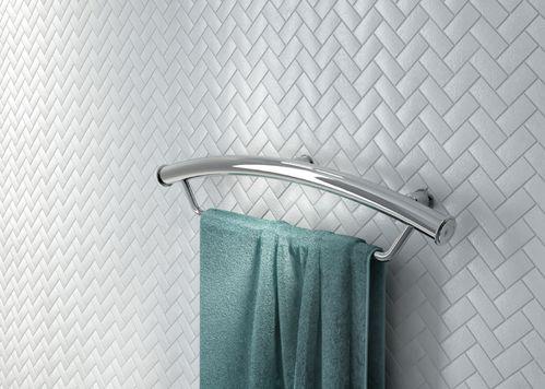 Поручень Deante VITAL стальной настенный с местом для полотенца 543 мм