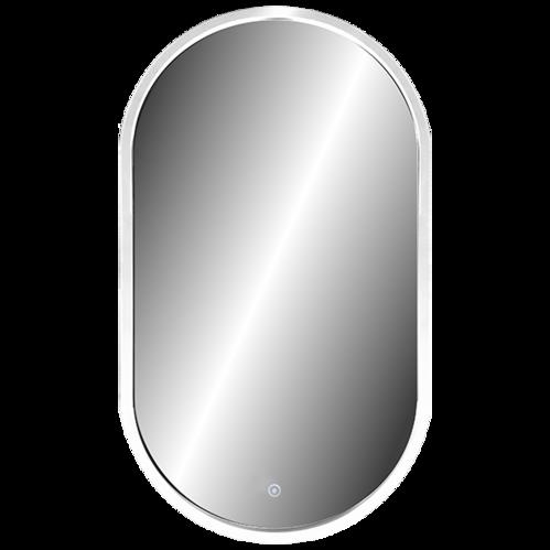 Зеркало Континент Prime White Led 45x80, с подсветкой, сенсор, белый, реверс