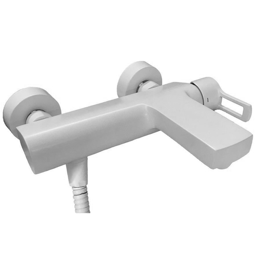 Paffoni Ringo Смеситель для ванны с душ.набором и настен.поворот.крепл.из ABS, белый матовый