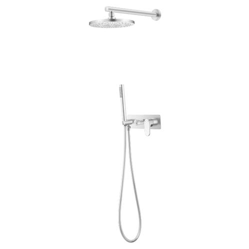 Смеситель встроенный + верхний+ ручной душ Boheme Spectre Matt White