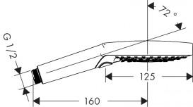 РУЧНОЙ ДУШ HANSGROHE RAINDANCE SELECT 120, 3JET, ECOSMART графит