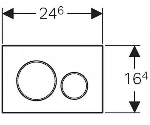 Клавиша Geberit Sigma Type 20, двойной смыв, глянцевый хром (не оставляет отпечатки пальцев)