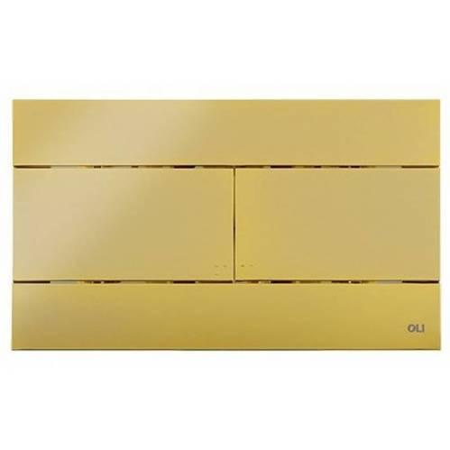 Кнопка смыва механическая OLI Slim золотая