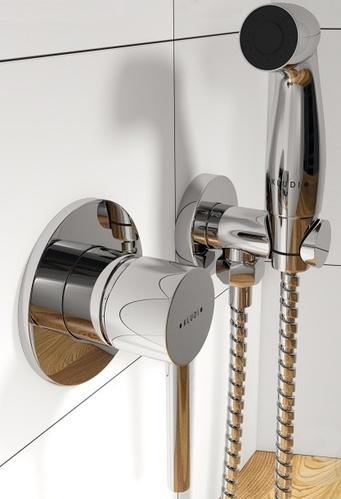 Гигиенический душ Kludi Bozz со смесителем, хром