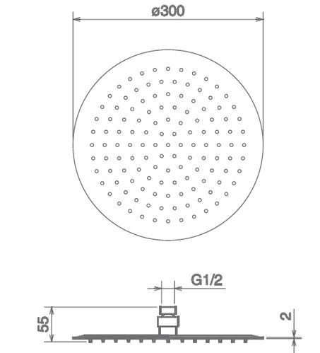 Лейка верхнего душа La Torre 00082/S, 30x30 см