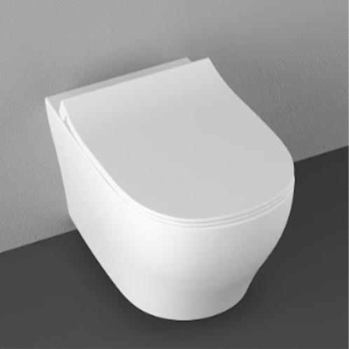 Isvea Soluzione II Унитаз подвесной безободковый с крышкой, белый