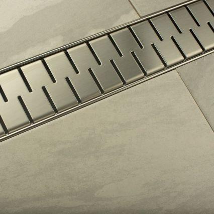 """Душевой линейный трап Styron STY-M, со стальной решеткой """"Medium"""""""