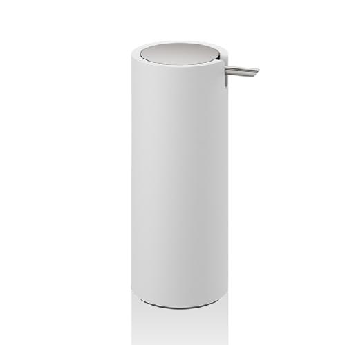 Decor Walther Stone SSP Дозатор для мыла, настольный, цвет белый / сталь матовая