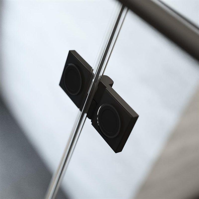 Душевой уголок Radaway Essenza Pro KDJ, H-200 см, стекло прозрачное, фурнитура черная