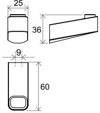 Одинарный крючок Ravak 10°