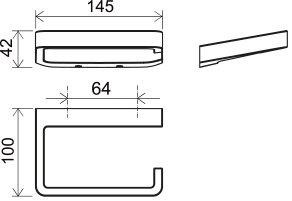 Держатель туалетной бумаги Ravak 10°