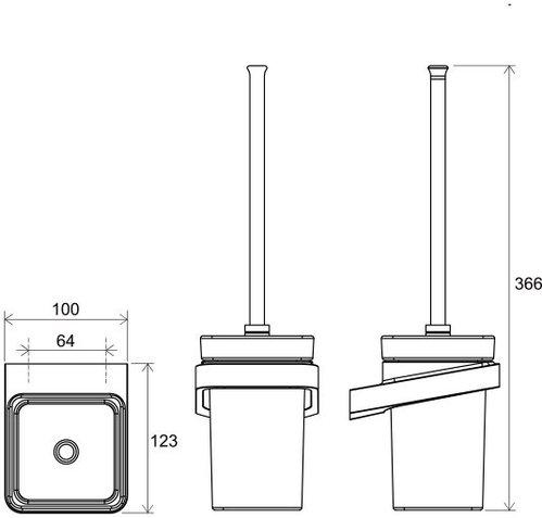 Щетка для унитаза с держателем Ravak 10°