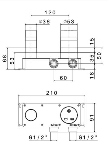 Newform box скрытая часть смесителя для раковины
