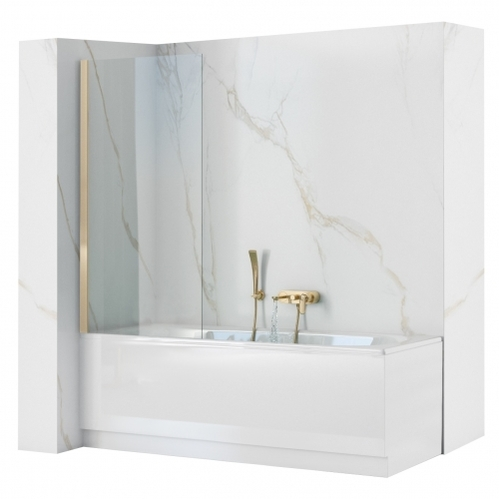 Шторка на ванную Rea Elegant Gold 70