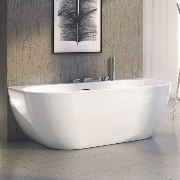 Ванна FREEDOM W 1660х800 белая отдельностоящая