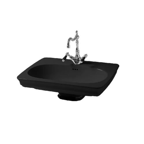 Раковина ArtCeram Civitas подвесная 68х50 см, 1 отверстие, цвет черный